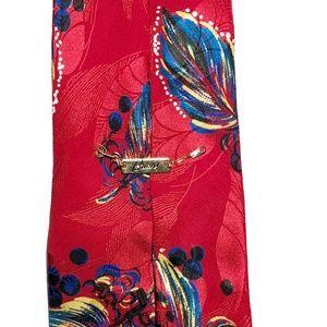 Brioni Accessories - Brioni Feather Floral Print Silk Tie W4 L<60